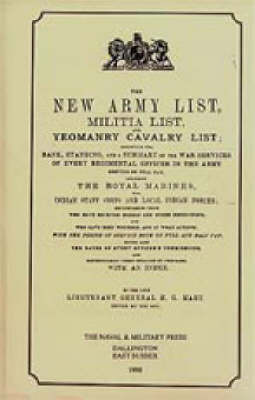Hart's Annual Army List for 1895 by Naval & Military Press