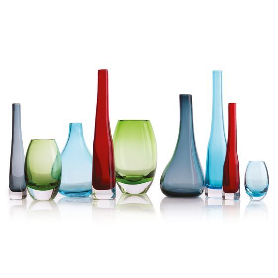 Krosno Sashay Bulb Vase - Smoke (22cm) image