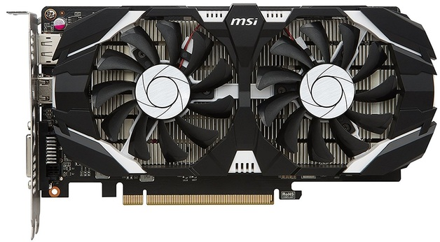 MSI GeForce GTX 1050 2GB OC V1 Graphics Card