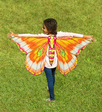 Hearth Song: Fantasy Butterfly Wings - Pink/Orange