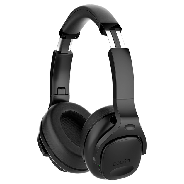 Cowin: E9 Max Active Noise Cancelling - Wireless Bluetooth Headphones (Black)