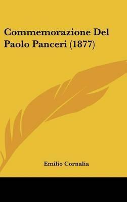 Commemorazione del Paolo Panceri (1877) by Emilio Cornalia