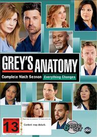 Grey's Anatomy - Complete Ninth Season on DVD