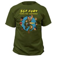 Marvel Sgt. Fury and His Howling Commandos T-Shirt (Green, Medium)