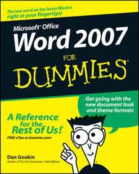 Word 2007 For Dummies by Dan Gookin