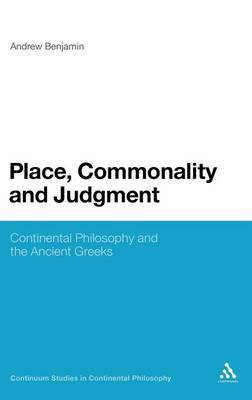 Place, Commonality and Judgment by Andrew Benjamin