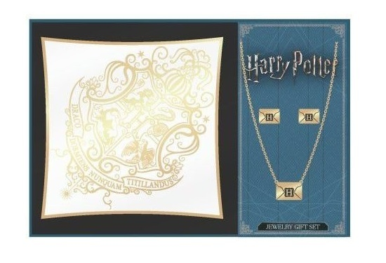 Harry Potter: Hogwarts Crest - Jewellery & Tray Set