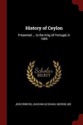 History of Ceylon by Joao Ribeiro image