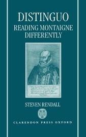 Distinguo: Reading Montaigne Differently by Steven Rendall image