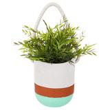 Hanging Plant Pot - Green Orange (Large)