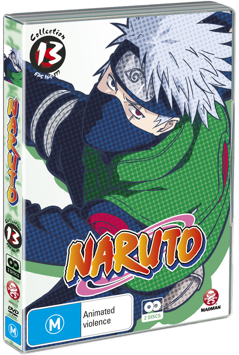 Naruto (Uncut) Collection 13 (Eps 164-177), on DVD image