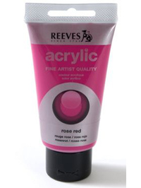 75ml Reeves Fine Acrylic - Rose Red