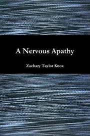 A Nervous Apathy by Zachary Taylor Knox image