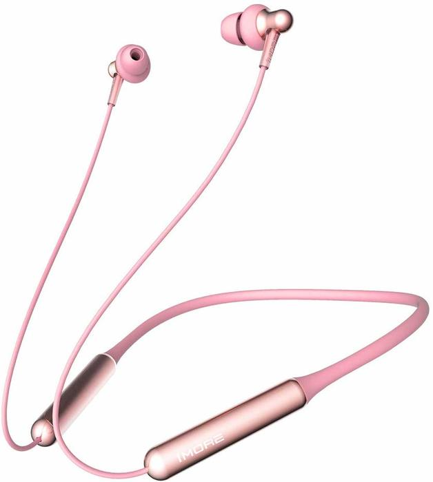 1More: Stylish Dual-Dynamic Driver BT In-Ear Headphones - Pink Global