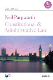 Constitutional and Administrative Law by Neil Parpworth image