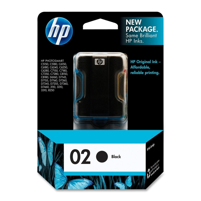 HP 02 Ink Cartridge C8721WA (Black) image