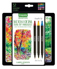 Crayola: Signature - Sketch & Detail Dual Ended Markers (16pc)