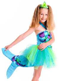 Fairy Girls - Splash Mermaid Dress (Medium, age 4-6)
