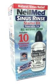 NeilMed Sinus Rinse Starter Kit (240ml Bottle + 10 Sachets)