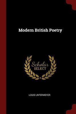 Modern British Poetry by Louis Untermeyer image