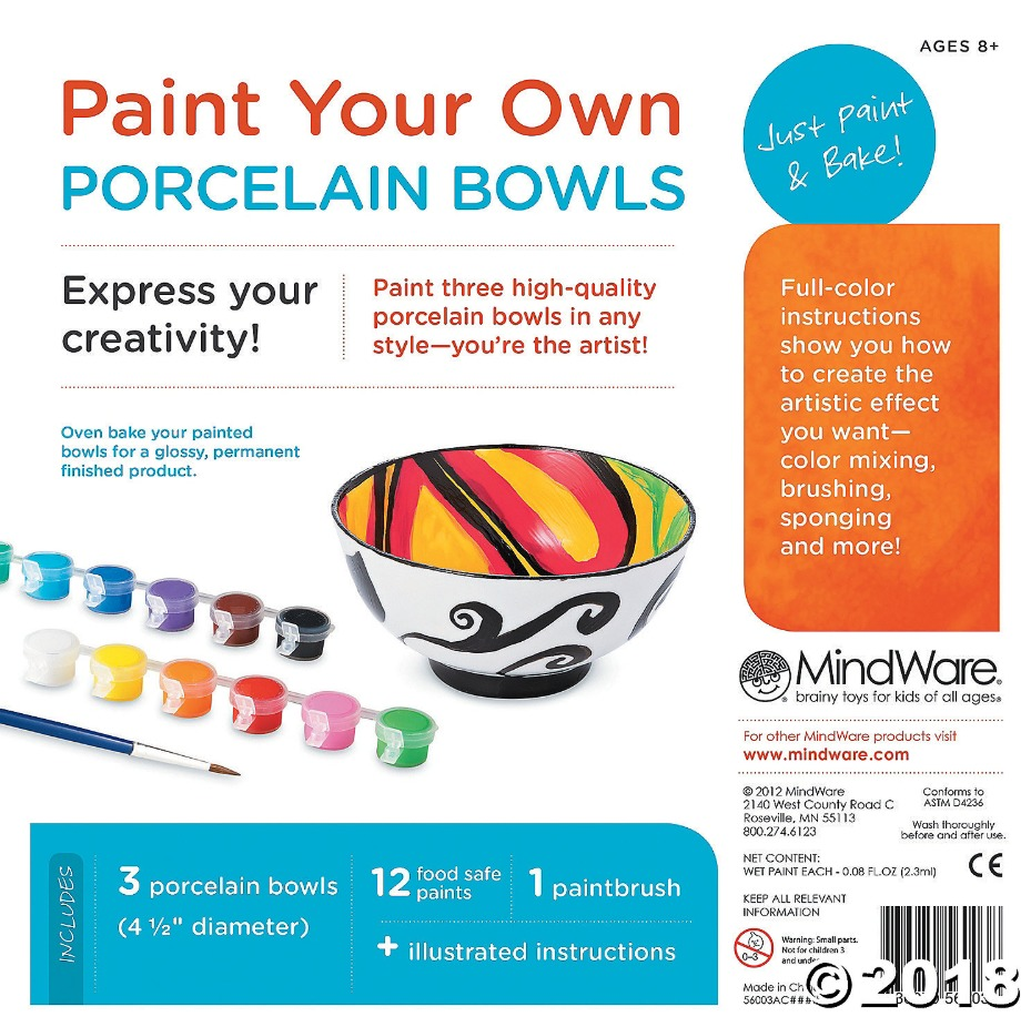 Mindware Create: Paint Your Own - Porcelain Bowls image