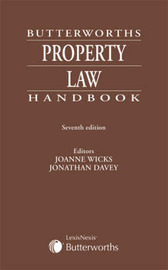 Butterworths Property Law Handbook by Jonathan Davey image