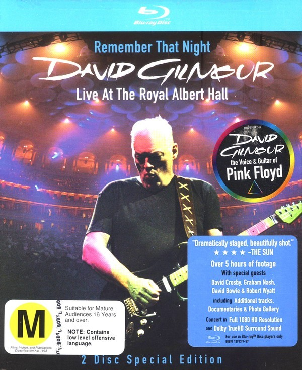 David Gilmour - Remember That Night: Live At The Royal Albert Hall (2 Disc Set) on Blu-ray