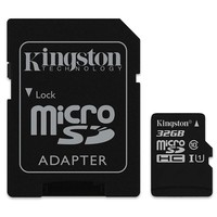 32GB Kingston - MicroSDHC Card with SD Adapter (Class 10 UHS-I)
