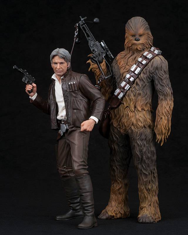 Star Wars: 1/10 Han Solo & Chewbacca - Artfx+ Figure Set image