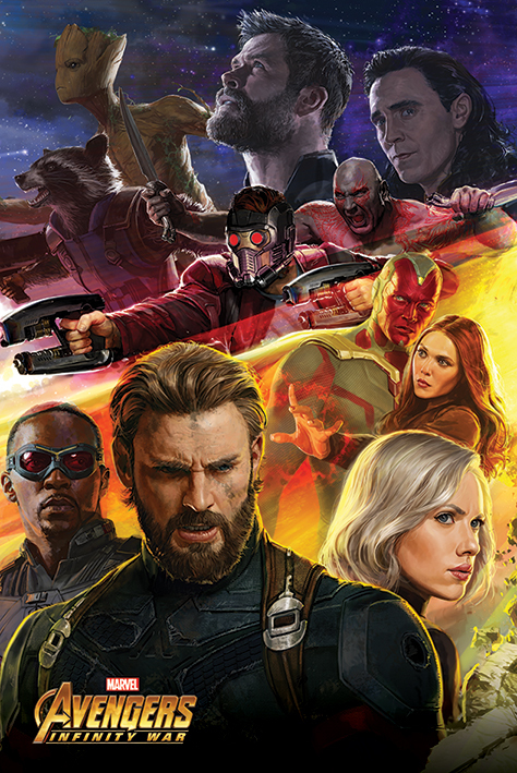 Avengers Infinity War Maxi Poster - Captain America (730)