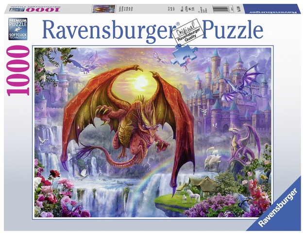 Ravensburger: 1,000 Piece Puzzle - Dragon Kingdom