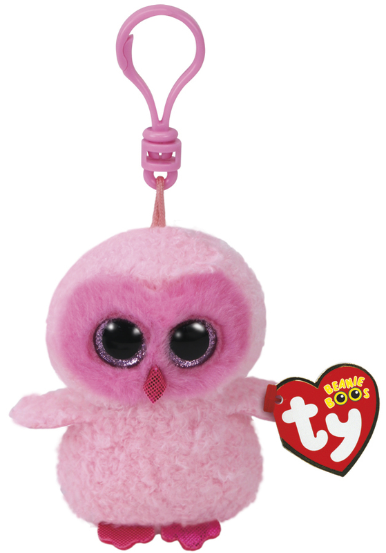 Ty Beanie Boos: Twiggy Owl - Clip On Plush