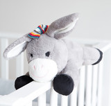 Zazu: DON the Donkey Plush Comforter with Heartbeat