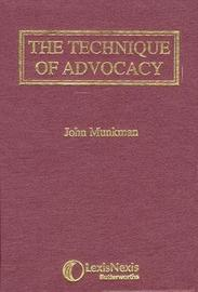 Munkman: The Technique of Advocacy by John Munkman