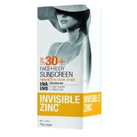 Invisible Zinc Face & Body 2hr Water Resistant SPF50+ (75g)
