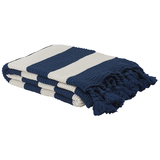 Bambury Madison Throw Rug (Navy)