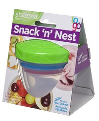 Sistema: To Go - Snack 'n' Nest Set (Assorted Colours)