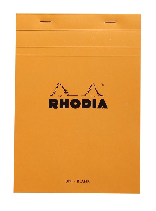Bloc Rhodia A5 80 Blank Sheets (Orange)