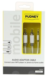 Pudney: 3.5mm Stereo Plug To 2 RCA Plugs 2 Metre - White