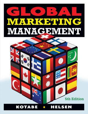 Global Marketing Management by Masaaki Kotabe image