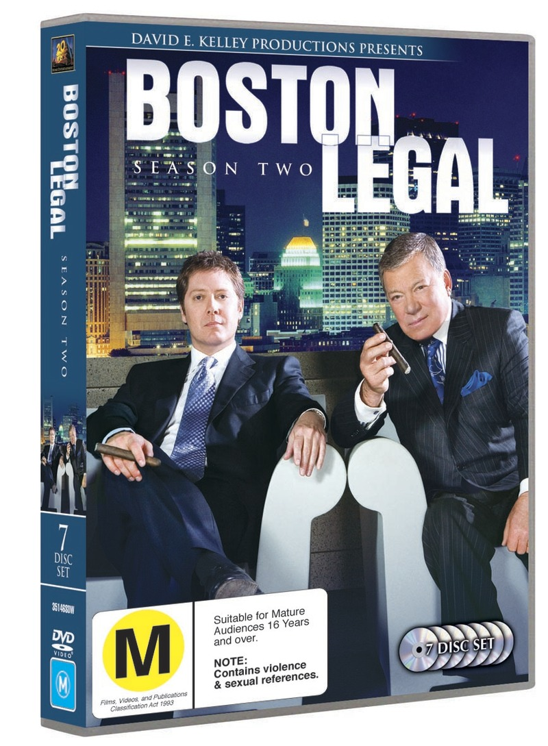 Boston Legal - Season 2 (7 Disc Set) on DVD image