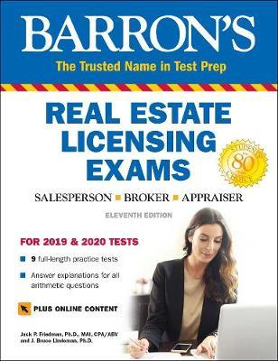 Barron's Real Estate Licensing Exams with Online Digital Flashcards by Jack P. Friedman