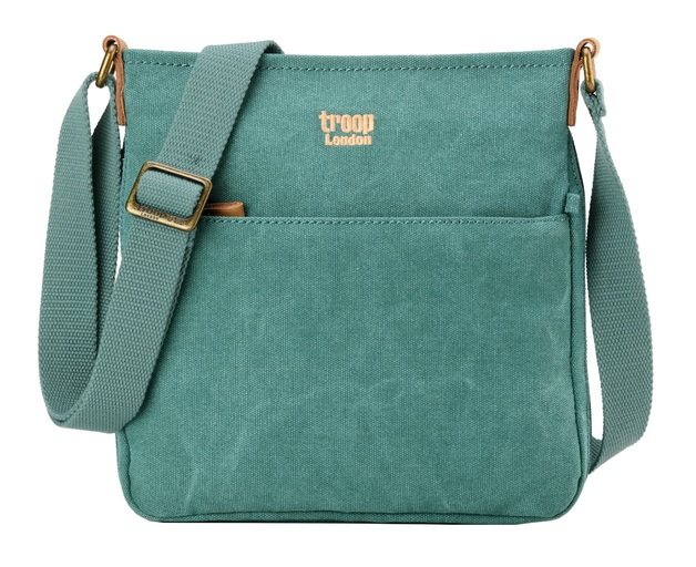 Troop London: Classic Small Zip Top Shoulder Bag - Turquoise
