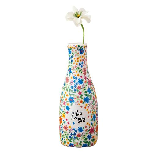 Natural Life: Floral Bud Vase - Be Happy