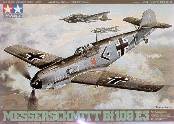 Tamiya German Messerschmitt BF109 E3 1/48 Aircraft Model Kit