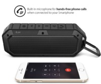 iLuv Collision Waterproof Portable Bluetooth Speaker (Black)