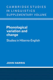 Phonological Variation and Change by John Harris image