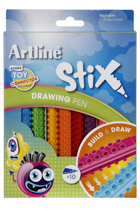 Artline Stix Drawing Pen (Pack of 10)