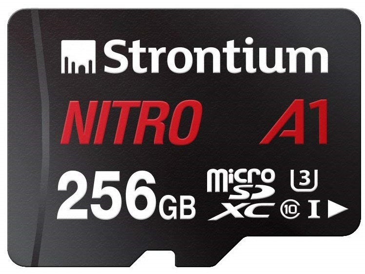 Strontium NITRO A1 256GB Micro SD With Adapter image