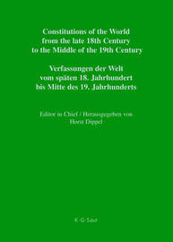 Constitutional Documents of Denmark, Norway and Sweden 1809-1849